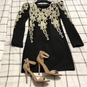 Black sequence long sleeve dress, MAKE AN OFFER 😊